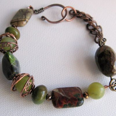 Shades of Green Bracelet with Jade and Jasper