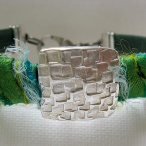 Boho Leather with Sari Silk Bracelet