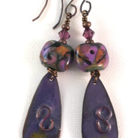 Purple with Floral Lampwork