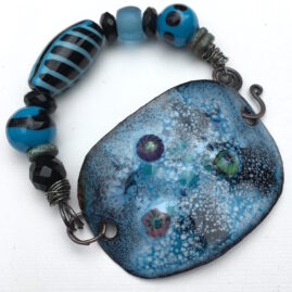 Teal and Black with Lampwork