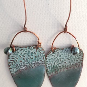 Enamel Patina Earrings2